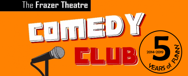 Comedy club event banner for web 5YOF